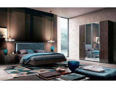 Итальянская спальня ROUND серебристая береза фабрики CAMELGROUP
