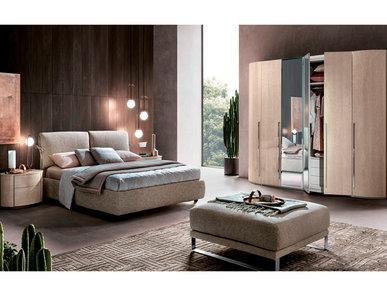 Итальянская спальня ROUND янтарная береза фабрики CAMELGROUP