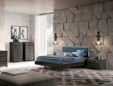Итальянская спальня MAIA серебристая береза фабрики CAMELGROUP