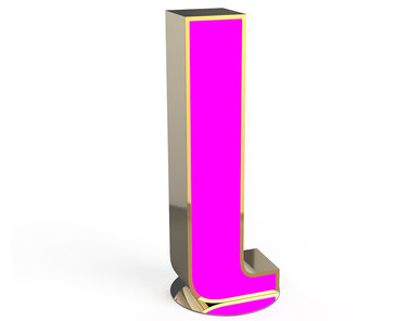 Настольная лампа LETTER L фабрики CIRCU