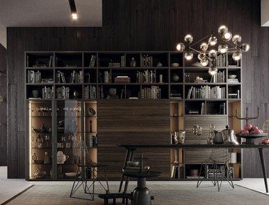 Итальянский книжный шкаф TECA 01 фабрики KIKO