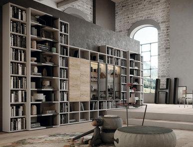 Итальянский книжный шкаф TECA 04 фабрики KIKO