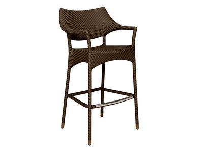Итальянский барный стул с подлокотниками AMARI фабрики JANUS ET CIE