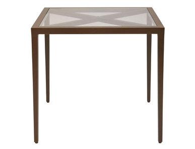 Итальянский квадратный столик AZIMUTH CROSS 61 фабрики JANUS ET CIE