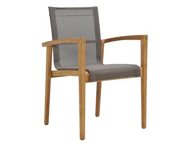 Итальянский стул с подлокотниками CASTELL фабрики JANUS ET CIE
