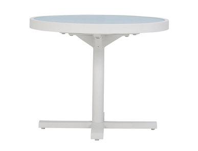 Итальянский круглый столик DUO GLASS TOP 53 фабрики JANUS ET CIE