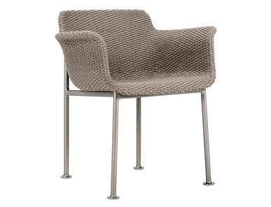 Итальянский стул с подлокотниками GINA фабрики JANUS ET CIE