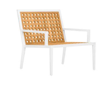 Итальянский стул с подлокотниками HATCH LOUNGE фабрики JANUS ET CIE