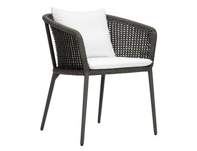 Итальянский стул с подлокотниками KNOT фабрики JANUS ET CIE