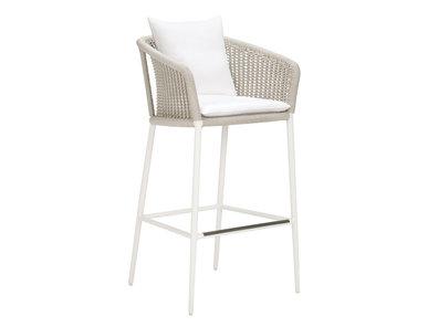 Итальянский барный стул с подлокотниками KNOT фабрики JANUS ET CIE