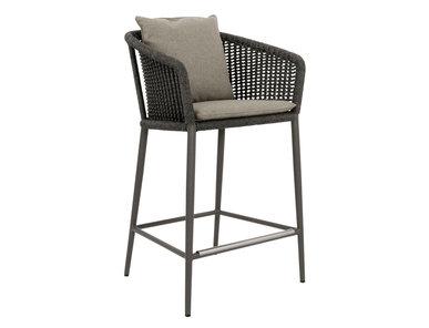 Итальянский барный стул с подлокотниками KNOT COUNTER фабрики JANUS ET CIE