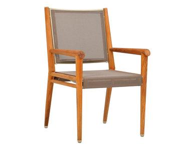 Итальянский стул с подлокотниками KONOS фабрики JANUS ET CIE