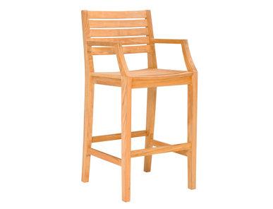 Итальянский барный стул с подлокотниками RELAIS фабрики JANUS ET CIE