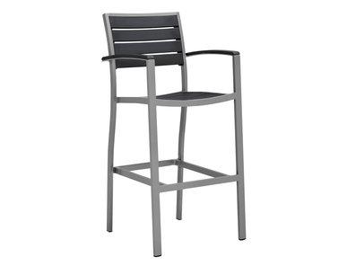 Итальянский барный стул с подлокотниками TATE фабрики JANUS ET CIE