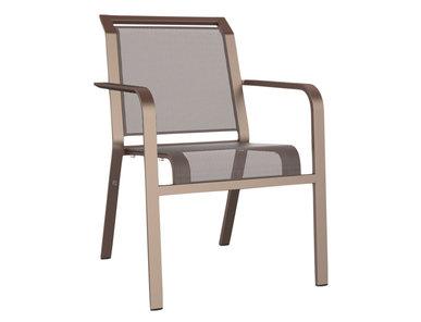 Итальянский стул с подлокотниками ZEPHYR фабрики JANUS ET CIE