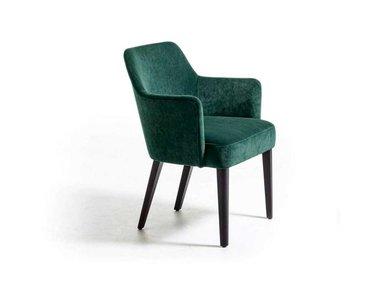 Итальянский стул с подлокотниками VELOUR фабрики LA CIVIDINA