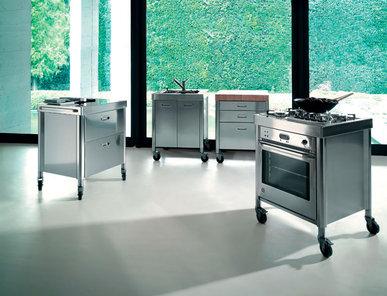 Итальянский кухонный гарнитур 70 Combined фабрики ALPES INOX