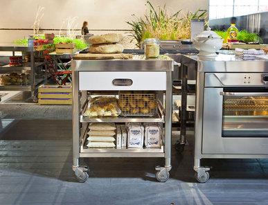 Итальянский кухонный гарнитур 70 Stainless Steel фабрики ALPES INOX