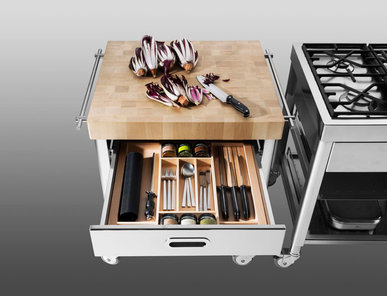 Итальянский кухонный гарнитур 70 Wood Top фабрики ALPES INOX