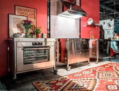 Итальянский кухонный гарнитур 100 Combined 01 фабрики ALPES INOX