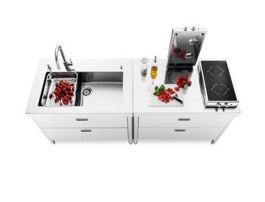 Итальянский кухонный гарнитур 100 Combined 02 фабрики ALPES INOX