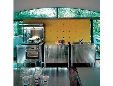 Итальянский кухонный гарнитур 100 Combined 03 фабрики ALPES INOX