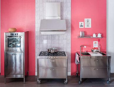 Итальянский кухонный гарнитур 100 Combined 05 фабрики ALPES INOX