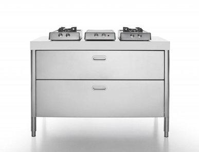 Итальянский кухонный гарнитур 130 фабрики ALPES INOX