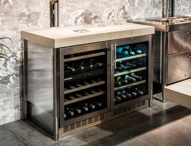 Итальянский холодильник для вина 130 фабрики ALPES INOX