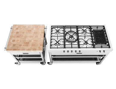 Итальянский кухонный гарнитур 130 Cast Iron фабрики ALPES INOX