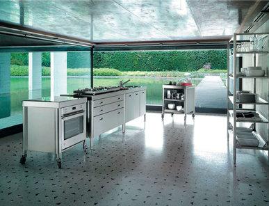 Итальянский кухонный гарнитур 130 Combined фабрики ALPES INOX