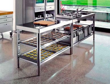 Итальянский кухонный гарнитур 160 02 фабрики ALPES INOX