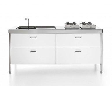 Итальянский кухонный гарнитур 190 фабрики ALPES INOX