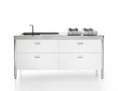 Итальянский кухонный гарнитур 190 White фабрики ALPES INOX