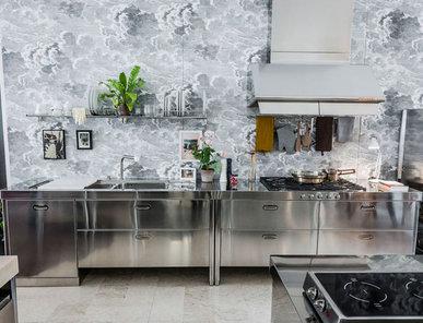 Итальянский кухонный гарнитур 190 Combined 01 фабрики ALPES INOX