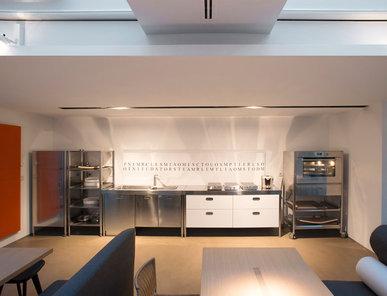 Итальянский кухонный гарнитур 190 Combined 03 фабрики ALPES INOX