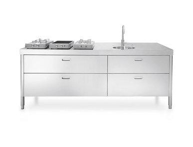 Итальянский кухонный гарнитур 220 фабрики ALPES INOX