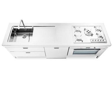 Итальянский кухонный гарнитур 250 фабрики ALPES INOX