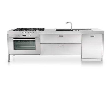 Итальянский кухонный гарнитур 280 фабрики ALPES INOX