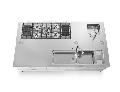 Итальянский кухонный гарнитур 150X280 фабрики ALPES INOX