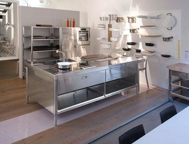 Итальянский кухонный гарнитур 125x280 фабрики ALPES INOX