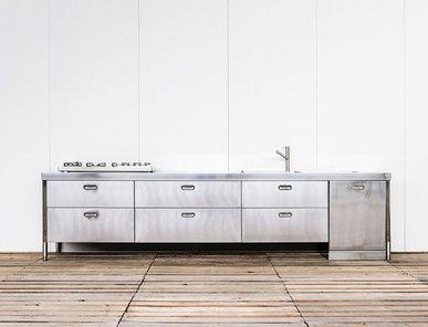 Итальянский кухонный гарнитур 370 фабрики ALPES INOX