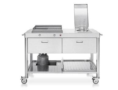 Итальянский кухонный гарнитур 130 Plancha And Deep-Fat Fryer 01 фабрики ALPES INOX
