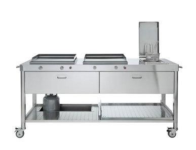 Итальянский кухонный гарнитур 190 01 фабрики ALPES INOX