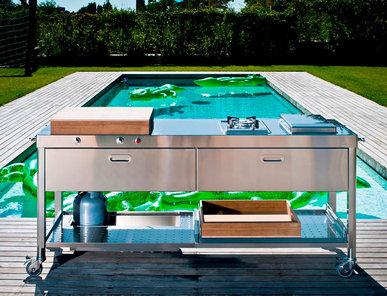 Итальянский кухонный гарнитур 190 Swimming Pool фабрики ALPES INOX