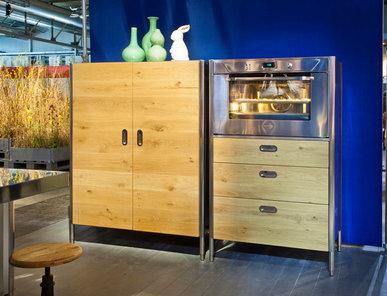 Итальянский кухонный шкаф 128 Wooden фабрики ALPES INOX