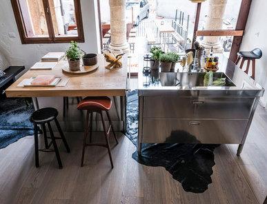 Итальянский кухонный остров 130 03 фабрики ALPES INOX