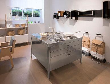 Итальянский кухонный остров 130 04 фабрики ALPES INOX
