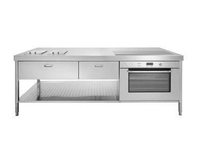 Итальянский кухонный остров 250 01 фабрики ALPES INOX