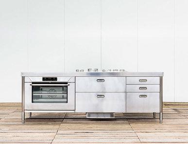 Итальянский кухонный остров 250 07 фабрики ALPES INOX